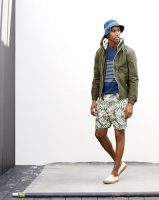 6 must haves men's summer style, men's print dock shorts, olive jacket JCrew