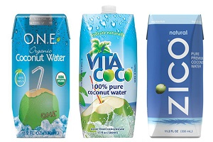 Beach bag essentials, coconut water