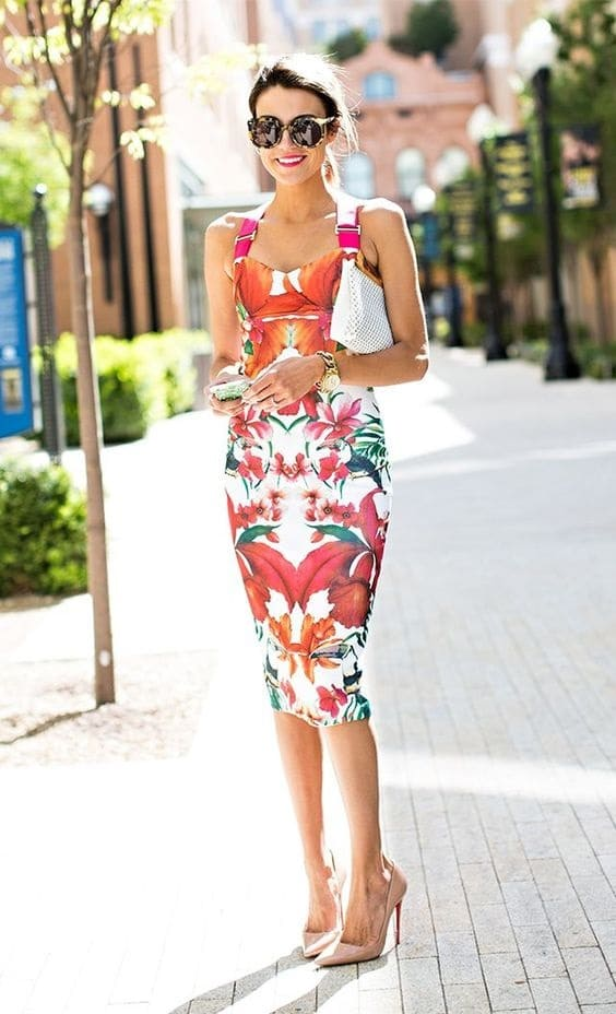 What to Wear to a Summer Soiree, Garden Party outfit, Ted Baker floral midi dress