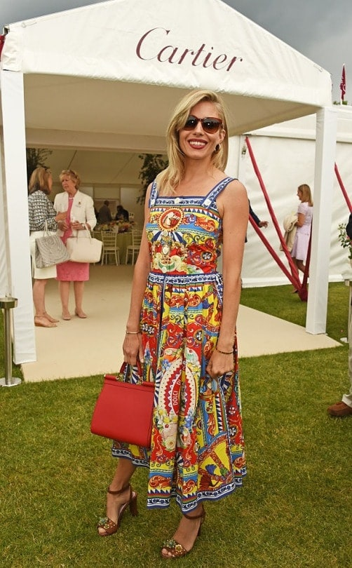 What to Wear to a Summer Soiree, afternoon barbecue, Sienna Miller print midi dress