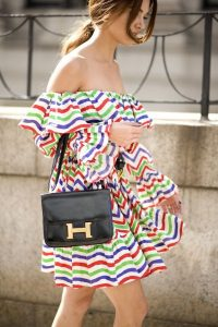 What to Wear to a Summer Soiree, beach and boating outfit, off the shoulder dress