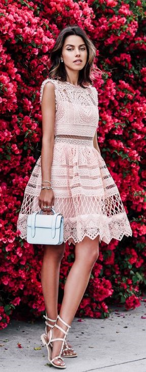 What to Wear to a Summer Soiree, sunset dinner, lace dress