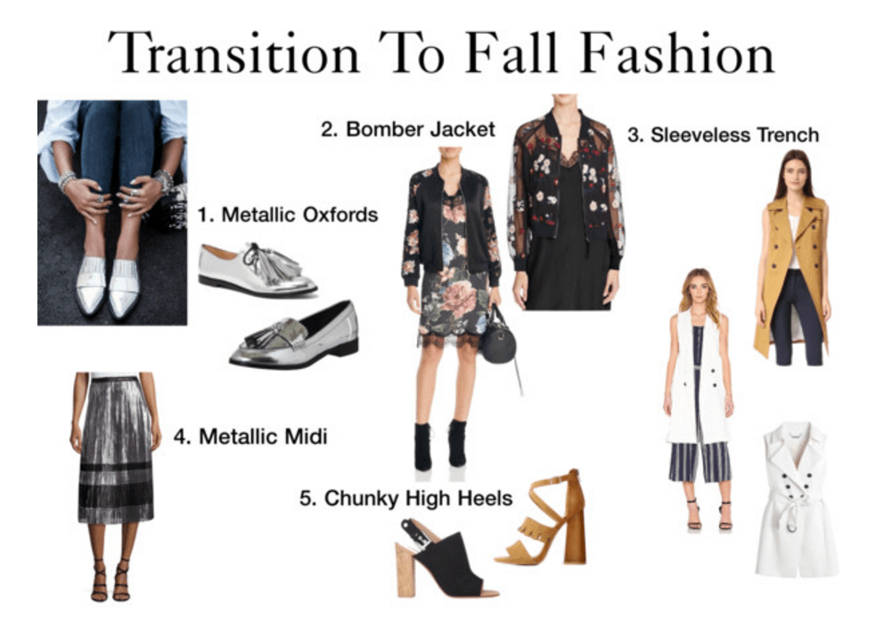 Fall Fashion, transition fall fashion, 5 key pieces for fall