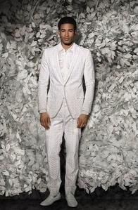 diner en blanc, men's white outfit, white suit