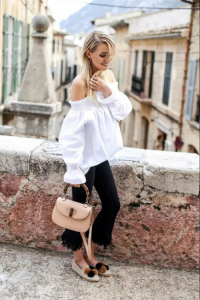transition to fall fashion, espadrilles and ankle length pants, Labor Day outfit
