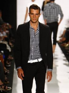 how to wear white post labor day, men's black suit with white belt