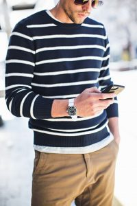 how to wear white post labor day, men's white watch