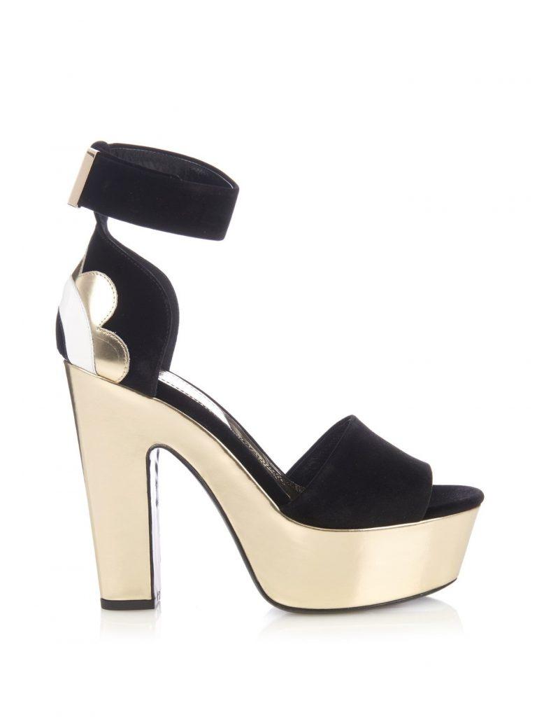NICHOLAS KIRKWOOD Polly Petal velvet and leather platform sandals