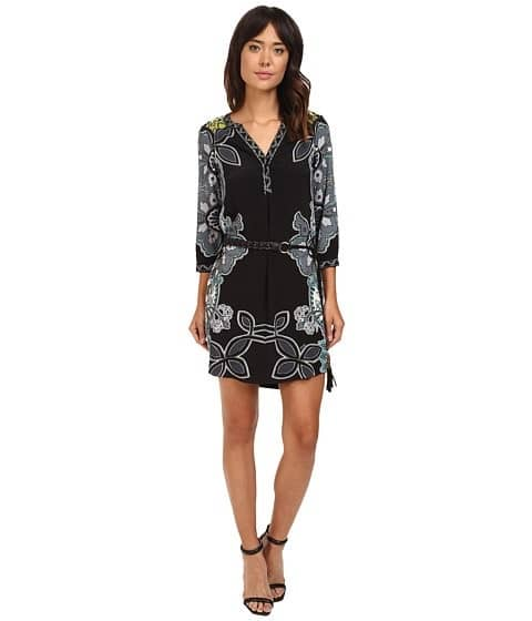 Transition to Fall Fashion Dress, Hale Bob Culture Vulture Black print shirtdress