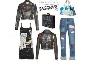 Alice + Olivia Jean-Michel Basquiat collection