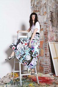 Alice + Olivia Basquiat print skirt