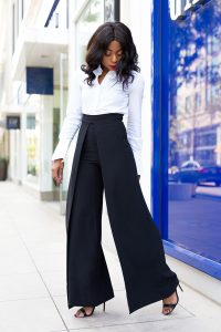 fall essentials, wide leg trousers, black-and-white-office-style-aqaq-pants-