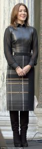 fall leather vest, chiffon sleeve blouse, plaid midi pencil skirt