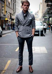 Men's business casual, men's cardigan jacket