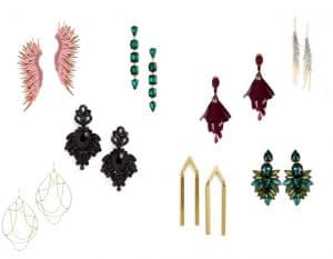 Glitz and Glam holiday jewelry, statement earrings, holiday earrings