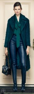 How to Wear Leather Pants, Tory Burch leather, work attire