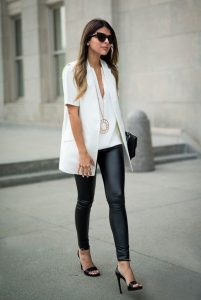 How to Wear Leather Pants, leather pants at the office