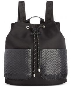 Stylish Gym Bags, Calvin Klein black nylon backpack with pockets