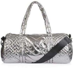 Stylish Gym Bags, TopShop silver gym bag