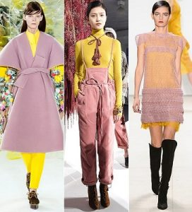 blush pink or rose quartz with yellow clothing trend