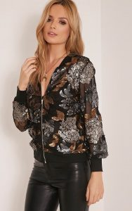 New Years Eve Outfit, sequin bomber jacket and black leather pants