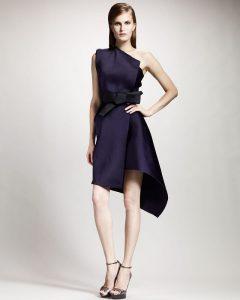 little black dress Lanvin one shoulder techno dress