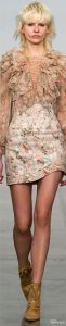 spring 2017 prints, floral, Zimmerman spring 2017 RTW floral print dress with chiffon