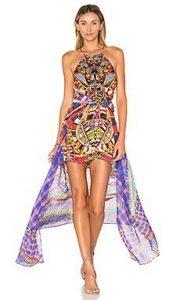 5 women's dress styles to own, print sundress with sheer chiffon overlay