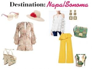 Memorial day outfits for Napa and Sonoma wine country