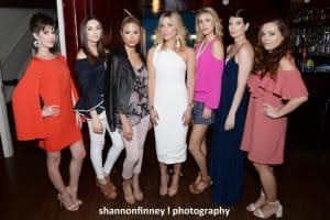 Models at the spring GlimmerNGloss fashion event
