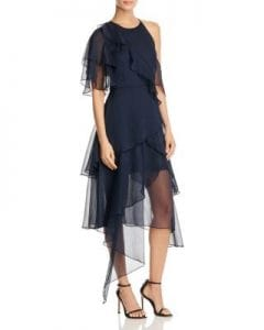 5 Dress Styles Every Woman Should Own, update lbd to navy dress, Keepsake Say You Will Tiered Chiffon dress