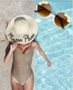Beach Essentials-sun hat and sunglasses