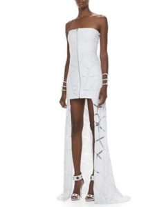 Style Essentials at Every Age, 40's killer dress, Alexis Barcelona Zip-Front High-Low Dress in white