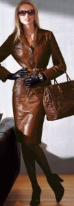 Style Essentials at Every Age, 50 year old leather, cognac leather bag, skirt and leather blazer new