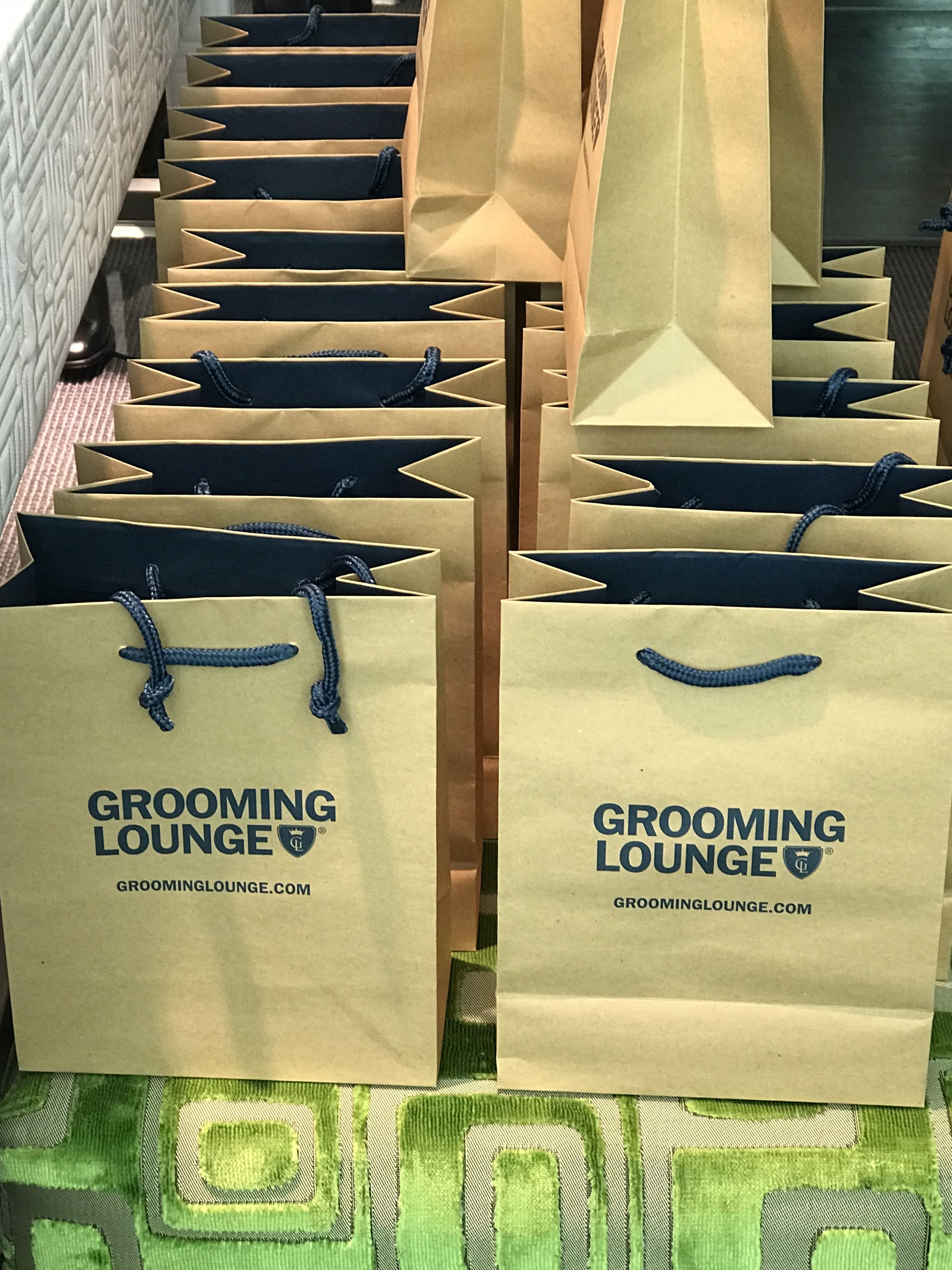 Suit Supply + Grooming Lounge Gift Bags
