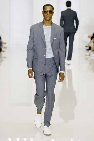 5 must have spring shoes for men, classic white bucks, men's gray suit and white bucks