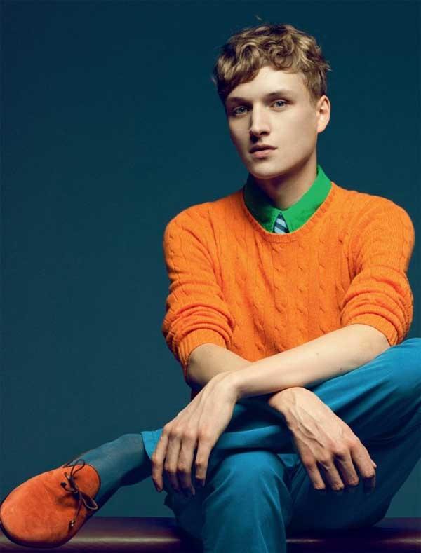 5 must have spring shoes for men, men's dress slippers, orange sweater and orange dress slipper-min