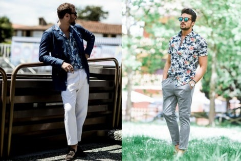 Men's summer shirting. Camp shirt vs. button-up