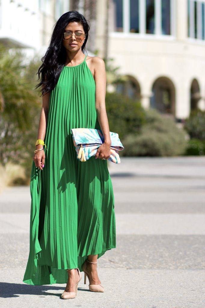 The Easiest Way to Take Your Look from Day to Night, day to night maxi dress, green maxi dress