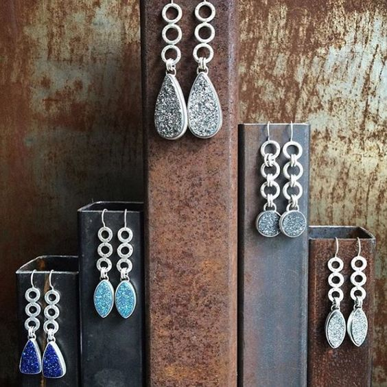 Jewelry Organization…Keep Your Jewels in Style, jewelry holder, steel pipe earring stand