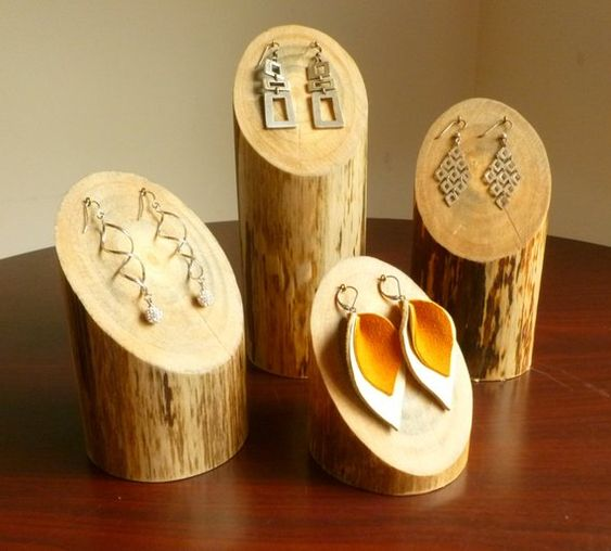 Jewelry Organization…Keep Your Jewels in Style, etsy wood earring display pedestals