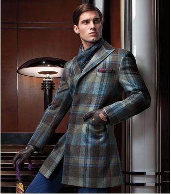 5 Stylish Coats that Completely Change Your Look Men, Paul Stuart plaid overcoat