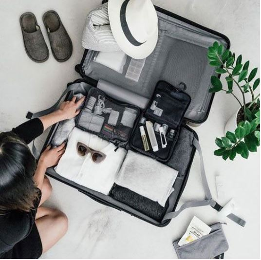What to Pack for Holiday Travel, men's carry on suitcase with compartments and toiletries