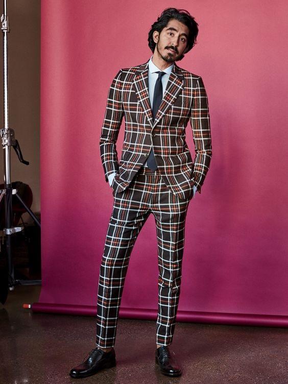 Men's Holiday Style, men's bold plaid suit