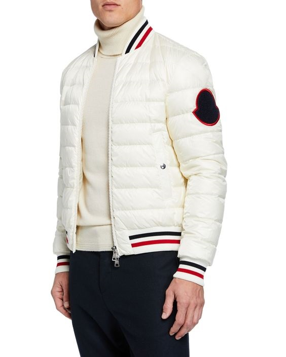 Break the Winter Chill Men's Winter Coats, Moncler men's deltour puffer jacket cream