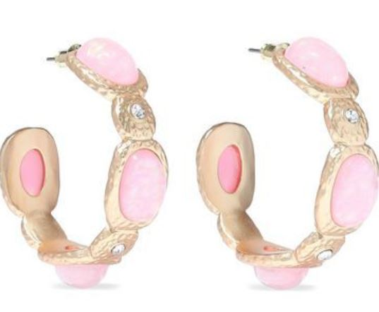 Galentine's Day Gifts & Glam, Galentine's gift, Kenneth Jay Lane pink hoop earrings