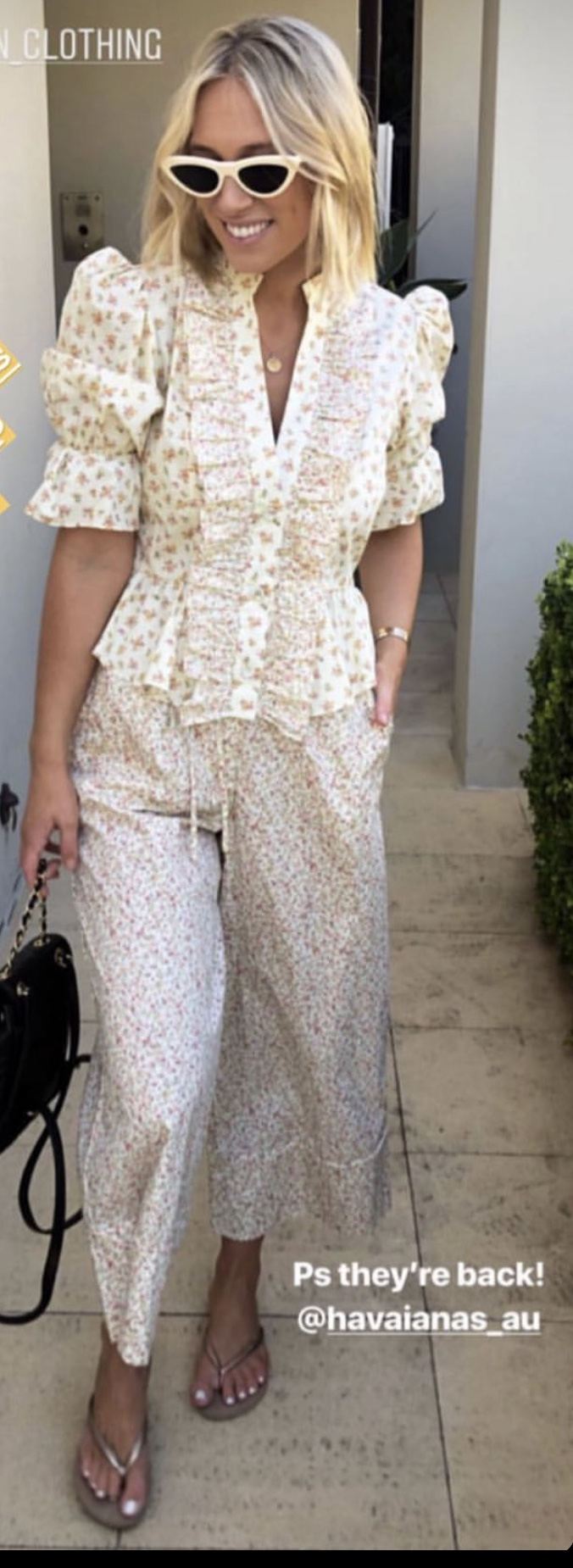 Easter Style: Men's & Women's Looks, floral blouse and pants, Petersyn nell floral top