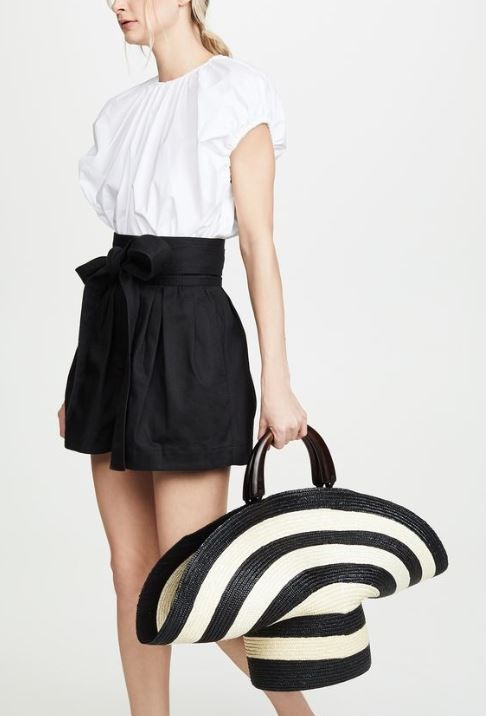 Memorial Day Weekend Style Travel Essentials, Eugenia Kim Flavia ivory and black bag