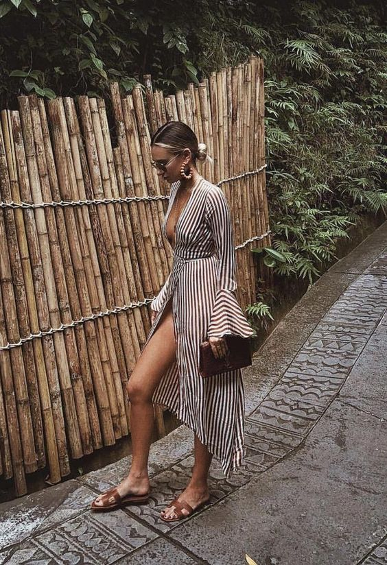 Must-Pack Travel Essentials for a Stylish Getaway, maxi coverup dress, striped maxi coverup