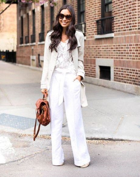 Beat the Heat in these Summer Essentials, sizzling summer workwear, linen blazer and white linen pants, lace top